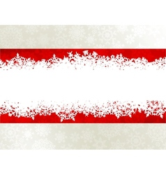 Christmas background with a red ribbon EPS 10 vector image vector image