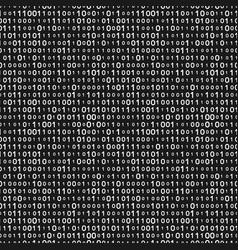 Monochrome binary code seamless pattern vector