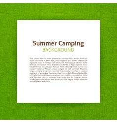 Summer camp paper template vector