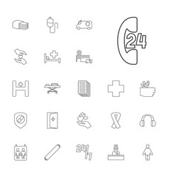 22 help icons vector