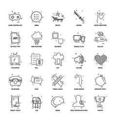 25 business concept mix line icon set vector