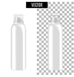 3d white realistic cosmetic package icon empty vector image