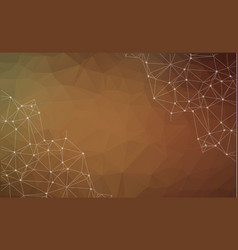 abstract polygonal brown background triangular vector image