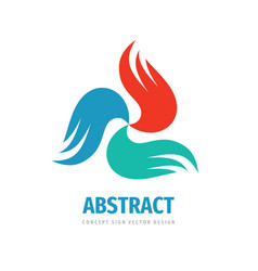 abstract wings concept logo design dynamic vector image