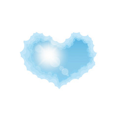 Aircraft in the cloud heart vector