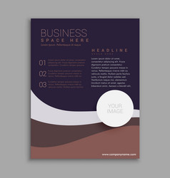 amazing brown and purple business brochure in a4 vector image