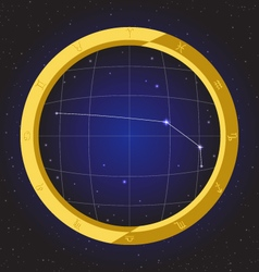 aries star horoscope zodiac in fish eye vector image