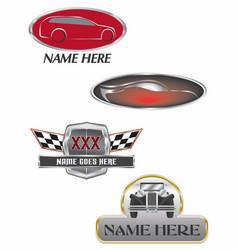 Auto dealer logos vector