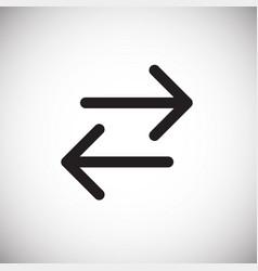 Backward forward arrows on white background vector