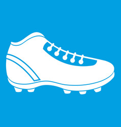 Baseball cleat icon white vector