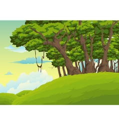 Beautiful landscape background vector