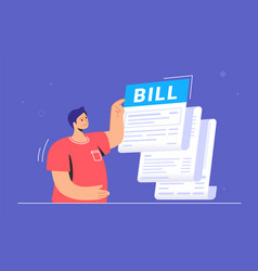 big bill or payment notification monthly vector image