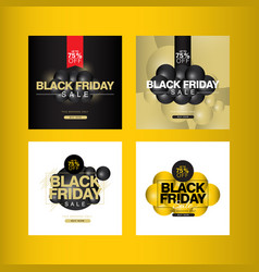 Black friday sale up to 75 off banner template vector