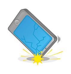Broken smartphone vector