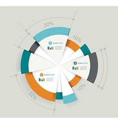 Business pie chart for documents and reports vector