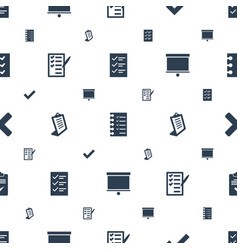 Checkmark icons pattern seamless white background vector