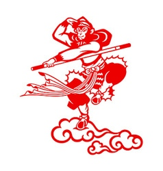Chinese Monkey king vector
