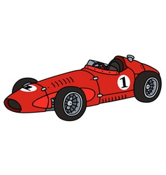 Classic red racing car vector image