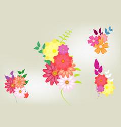 colorful spring summer flower background vector image