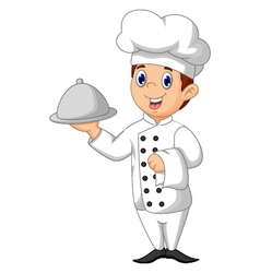 Cute chef cartoon vector