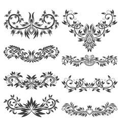 Design ornamental elements set Floral tattoo in vector image