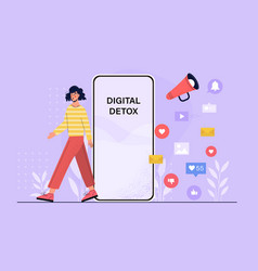Digital detox abstract concept vector