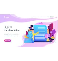 Digital transformation concept landing page vector