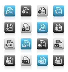 Documents icons 1 Matte Series vector