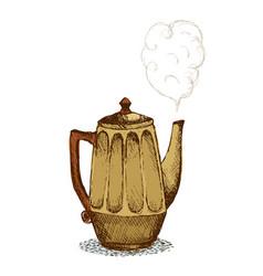 doodle pot vector image