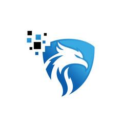 Eagle technology logo design vector