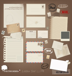 Envelope card and paper vector
