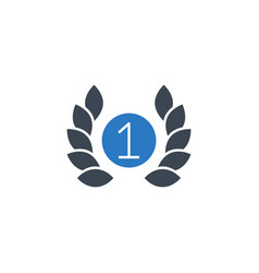 first place related glyph icon vector image