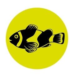 Fish icon graphic design vector image