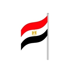 Flag of egypt icon isometric 3d style vector