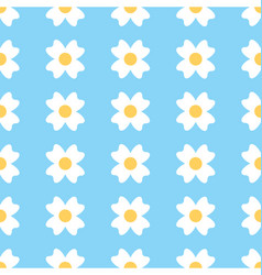 Floral daisy seamless background vector