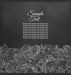 floral doodle card in black and white tones vector image