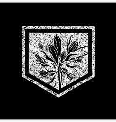 floral logo 04 grunge vector image