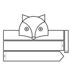 Fox coloring headband vector