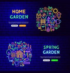 garden nature banners vector image