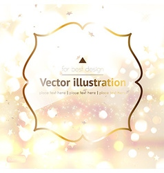 Gold Ornament for Design vector image