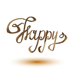 Happy lettering word EPS10 vector image
