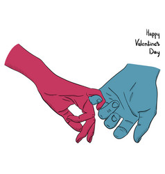 happy valentine s day woman and man holding each vector image