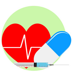 heart reanimation icon vector image