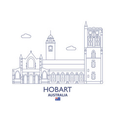 hobart city skyline vector image