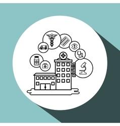 Hospital design Healthy center emergency concept vector image vector image