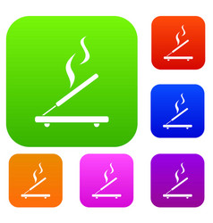 Incense sticks set collection vector