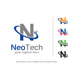 letter n logo template design vector image