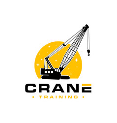 logo crane building construction vector image