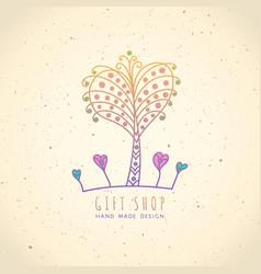 Logo gift shop vector