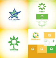 Logo icon design elements set vector image